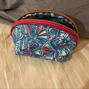 Lilly Pulitzer for Target Blue Seashell Makeup Bag